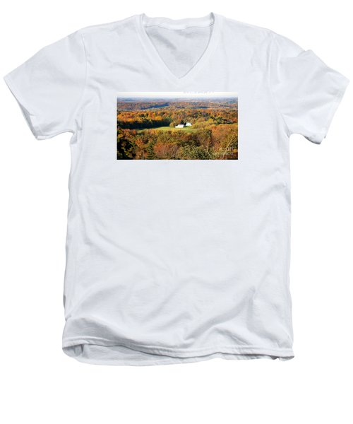 Men's V-Neck T-Shirt featuring the photograph Erin Wisconsin  by Ricky L Jones