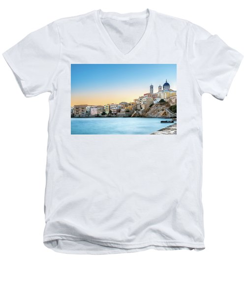 Ermoupoli - Syros / Greece. Men's V-Neck T-Shirt