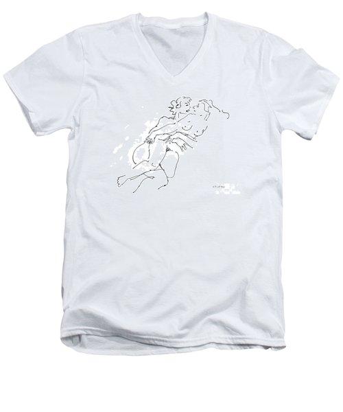 Erotic Art Drawings 13 Men's V-Neck T-Shirt