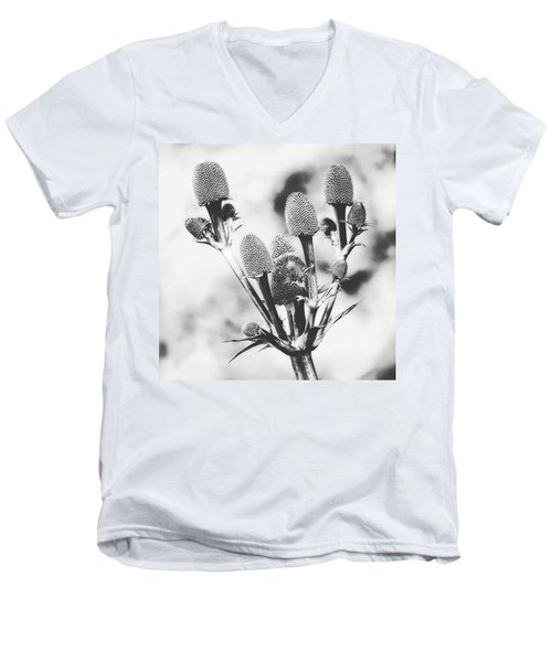 Eryngium #flower #flowers Men's V-Neck T-Shirt by John Edwards