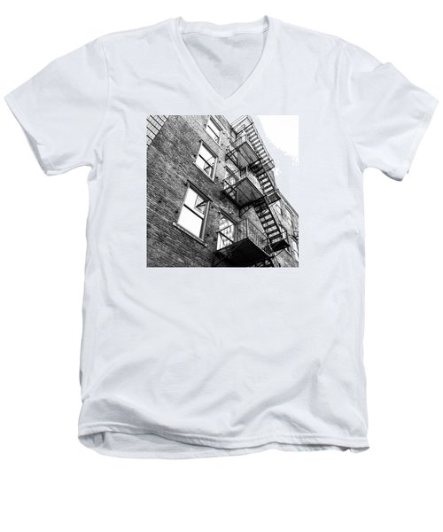 Men's V-Neck T-Shirt featuring the photograph Escape by Wade Brooks
