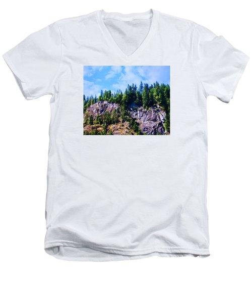 Men's V-Neck T-Shirt featuring the photograph Escarpment 2 by Timothy Bulone