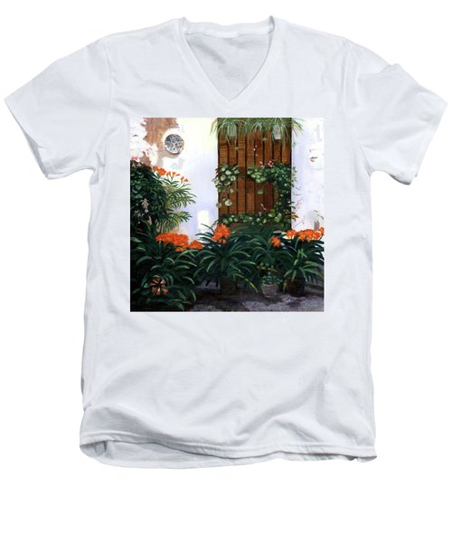 Men's V-Neck T-Shirt featuring the painting Espana by Lynne Reichhart