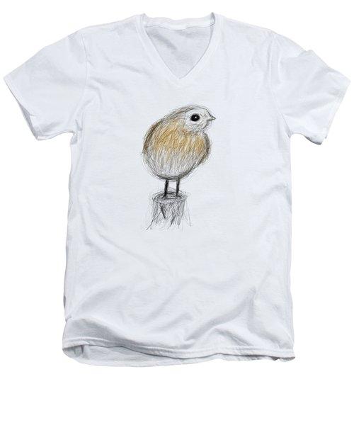 Etching 24 - Cold Morning Men's V-Neck T-Shirt