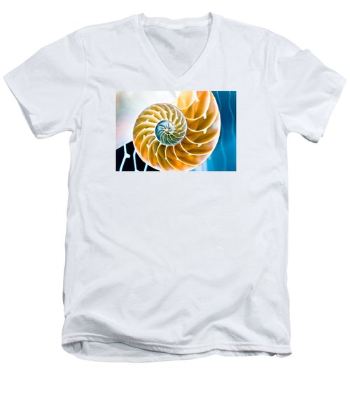 Eternal Golden Spiral Men's V-Neck T-Shirt by Colleen Kammerer