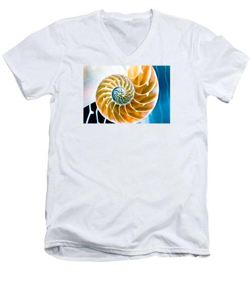 Eternal Golden Spiral Men's V-Neck T-Shirt