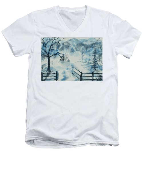 Ethereal Morning  Men's V-Neck T-Shirt