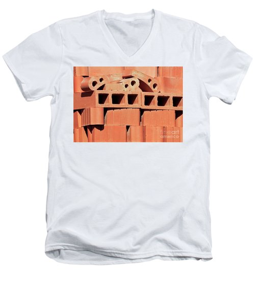 Men's V-Neck T-Shirt featuring the photograph Euclid Engineering Llc by Joe Jake Pratt