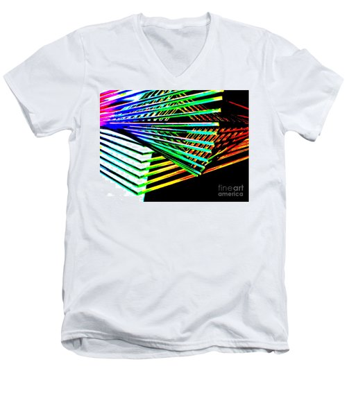Euclids Geometry Men's V-Neck T-Shirt by Tim Townsend