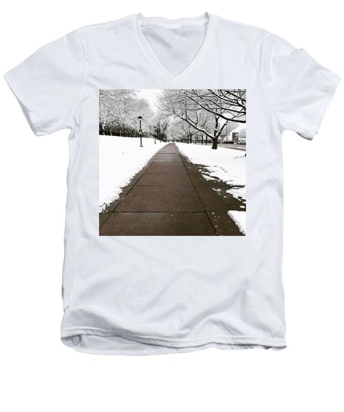 Winter Walks  Men's V-Neck T-Shirt by Cyrionna The Cyerial Artist