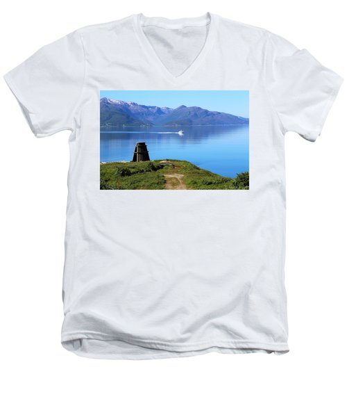 Evenes, Fjord In The North Of Norway Men's V-Neck T-Shirt by Tamara Sushko