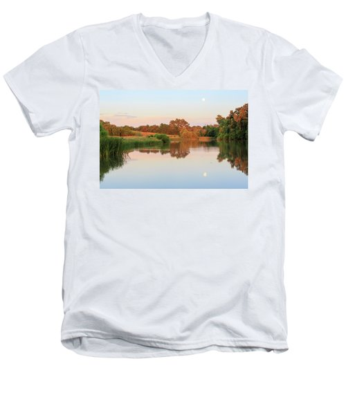 Evening At The Lake Men's V-Neck T-Shirt