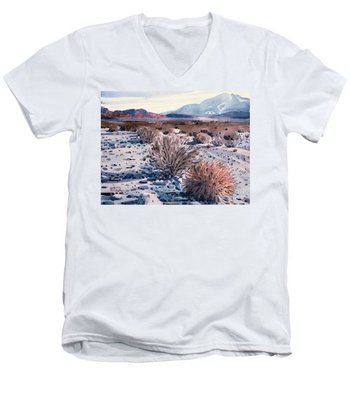 Evening In Death Valley Men's V-Neck T-Shirt by Donald Maier