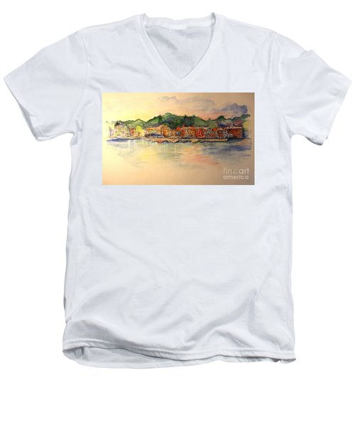 Evening In Skaneateles Men's V-Neck T-Shirt