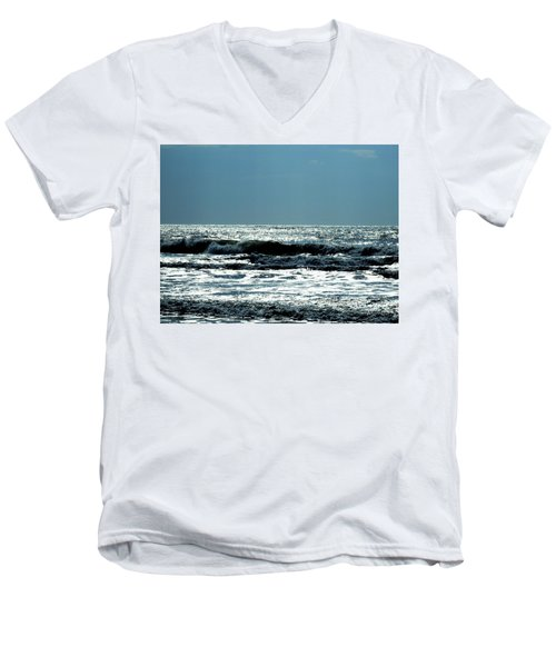 Men's V-Neck T-Shirt featuring the photograph Evening Light by Cathy Harper