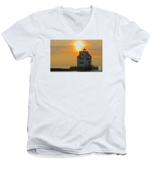 Evening Lighthouse 2 Men's V-Neck T-Shirt