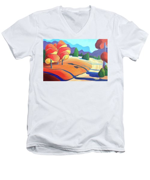 Evening Path Men's V-Neck T-Shirt