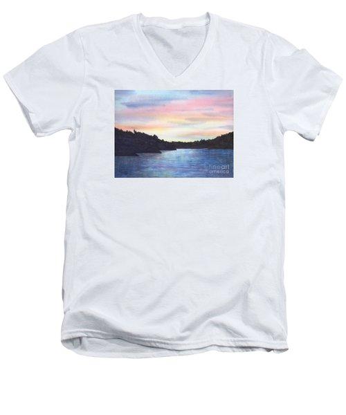 Evening Silhouette Men's V-Neck T-Shirt