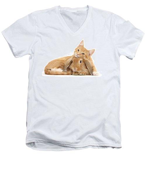 Everybody Needs A Bunny For A Pillow Men's V-Neck T-Shirt