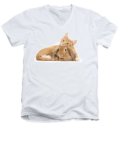 Everybody Needs A Bunny For A Pillow Men's V-Neck T-Shirt