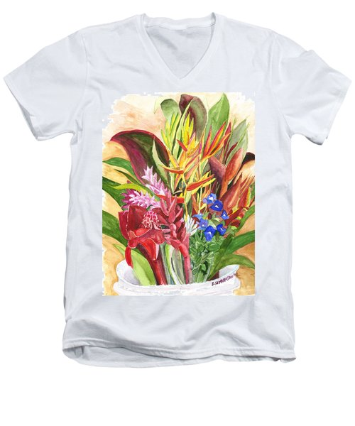 Everywhere There Were Flowers Men's V-Neck T-Shirt