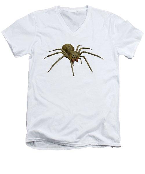 Evil Spider Men's V-Neck T-Shirt by Martin Capek