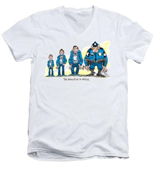 Evolution Of Apple Men's V-Neck T-Shirt