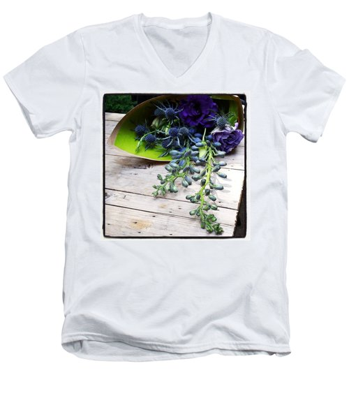 Men's V-Neck T-Shirt featuring the photograph Excellent Customer Service. #flowers by Mr Photojimsf