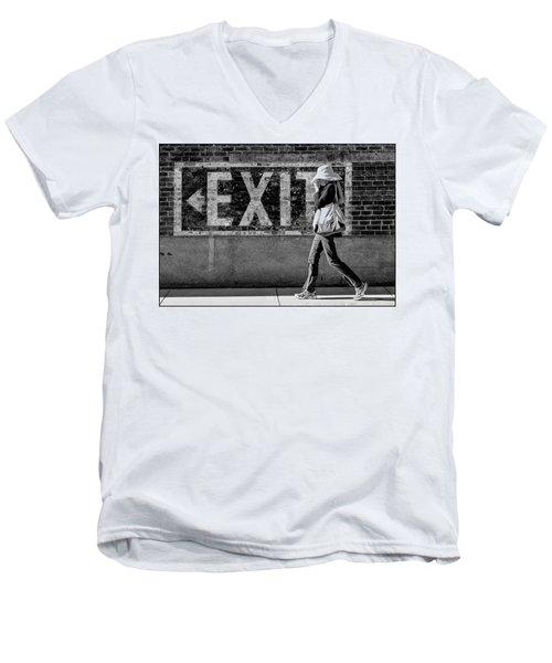 Exit Bw Men's V-Neck T-Shirt