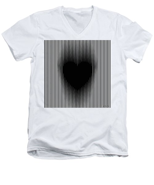 Expanding Heart Men's V-Neck T-Shirt