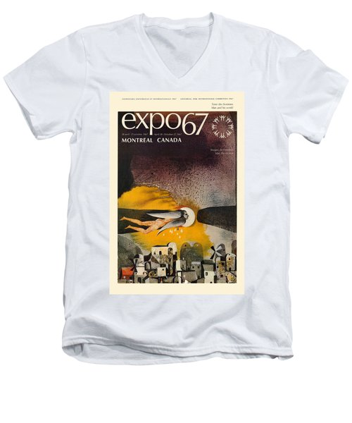 Expo 67 Men's V-Neck T-Shirt by Andrew Fare