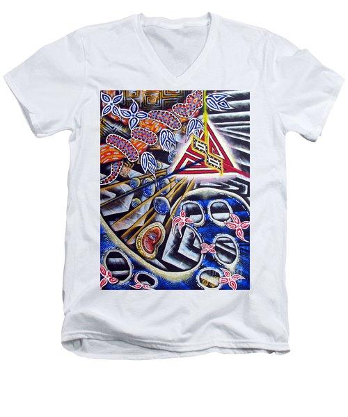 Expulsion Men's V-Neck T-Shirt by Luke Galutia