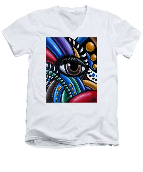Eye Am - Abstract Art Painting - Intuitive Art - Ai P. Nilson Men's V-Neck T-Shirt