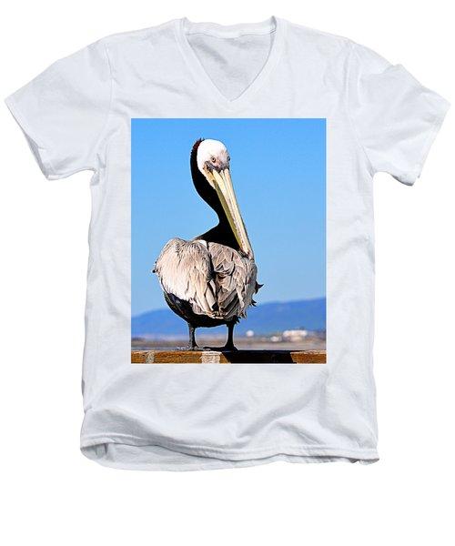Men's V-Neck T-Shirt featuring the photograph Eye Contact by AJ Schibig