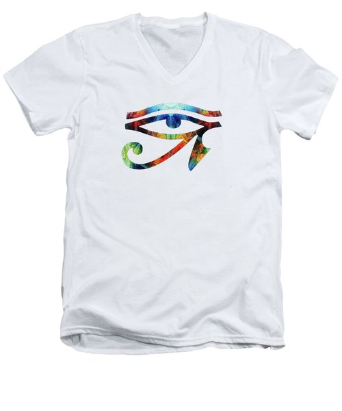Eye Of Horus - By Sharon Cummings Men's V-Neck T-Shirt