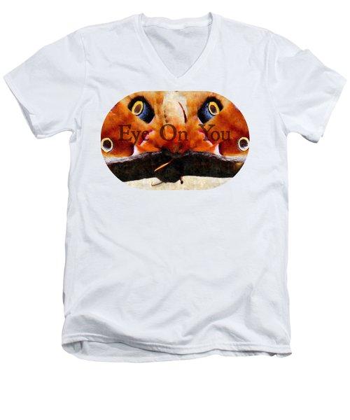 Eye On You - Silk Paint Men's V-Neck T-Shirt by Anita Faye