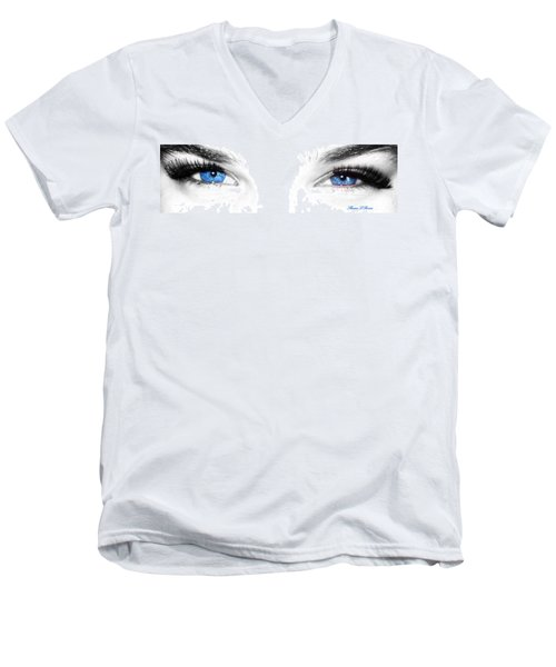 Men's V-Neck T-Shirt featuring the photograph Eye Sea  by Shana Rowe Jackson