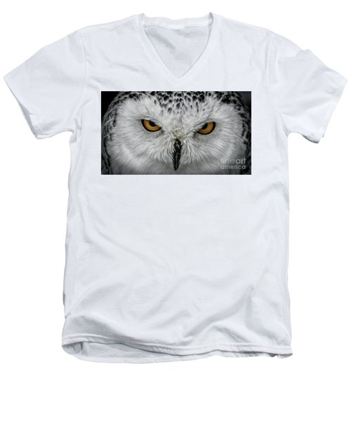 Eye-to-eye Men's V-Neck T-Shirt by Brad Allen Fine Art