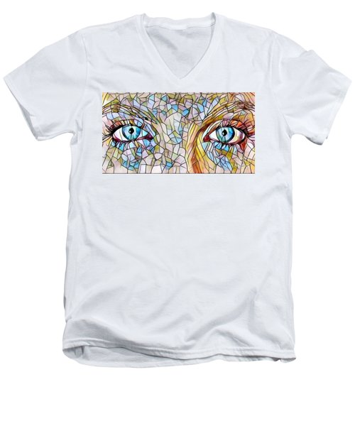 Eyes Of A Goddess - Stained Glass Men's V-Neck T-Shirt