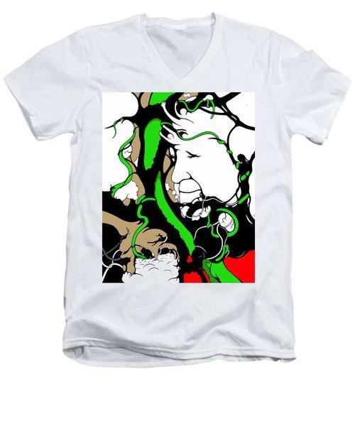 Eyes Of Faith Men's V-Neck T-Shirt