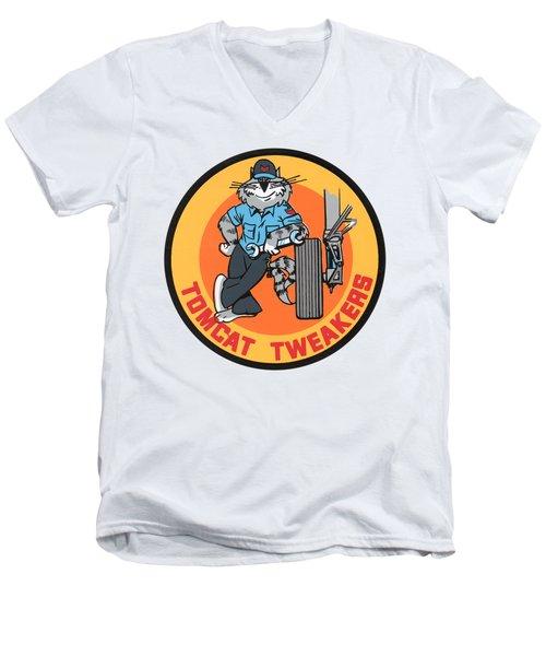 F-14 Tomcat Tweakers Men's V-Neck T-Shirt
