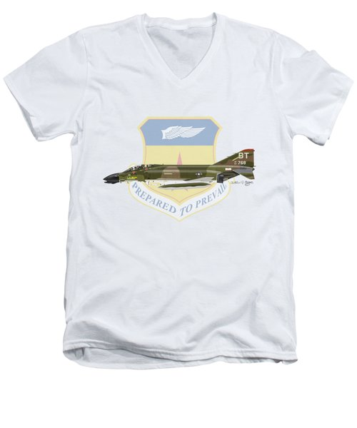 F-4d Phantom Bitburg Men's V-Neck T-Shirt by Arthur Eggers
