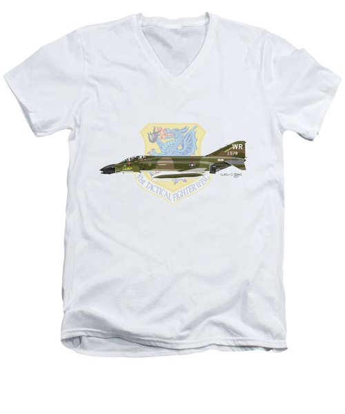 F-4d Phantom II Raf Bentwaters Men's V-Neck T-Shirt