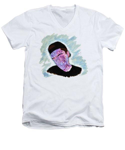 Faceless Teen Men's V-Neck T-Shirt