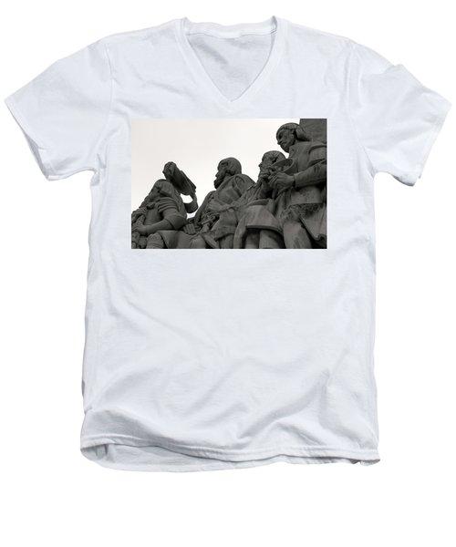 Faces Of The Monument Men's V-Neck T-Shirt