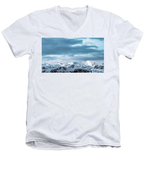 Facing Eyafjallajokull Men's V-Neck T-Shirt