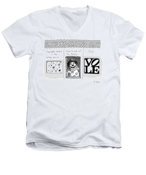 Factory Second Art Men's V-Neck T-Shirt