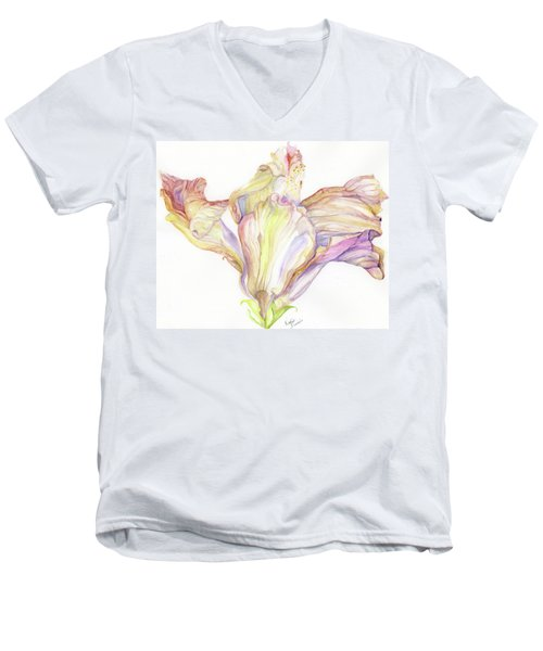 Faded Hibiscus Men's V-Neck T-Shirt