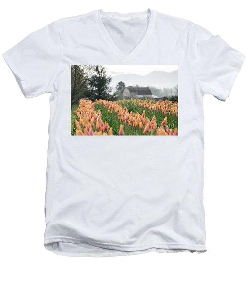 Faded Tulip Barn Men's V-Neck T-Shirt