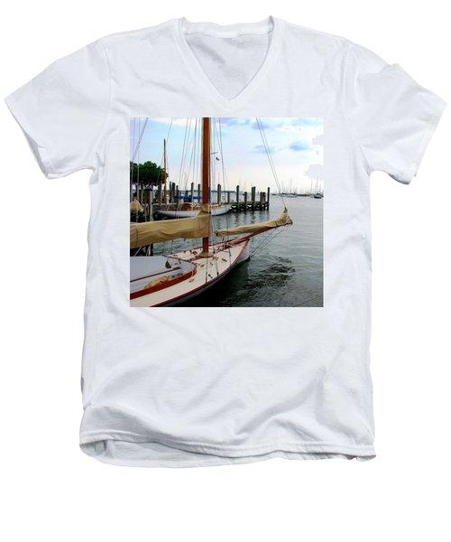 Fair Weather Annapolis  Men's V-Neck T-Shirt